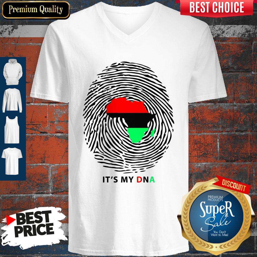 Nice Pan-African Flag It's My DNA V-neck