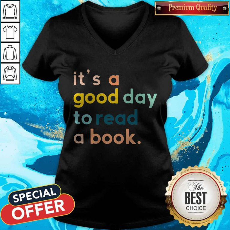 Official It's A Good Day To Read A Book V-neck