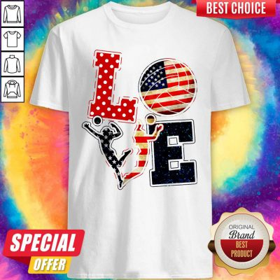 Official Love Volleyball American Flag Shirt
