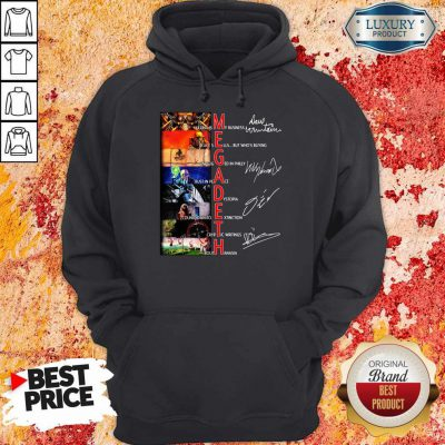 Official Megadeth Band Members Signatures Hoodie
