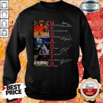 Official Megadeth Band Members Signatures Sweatshirt