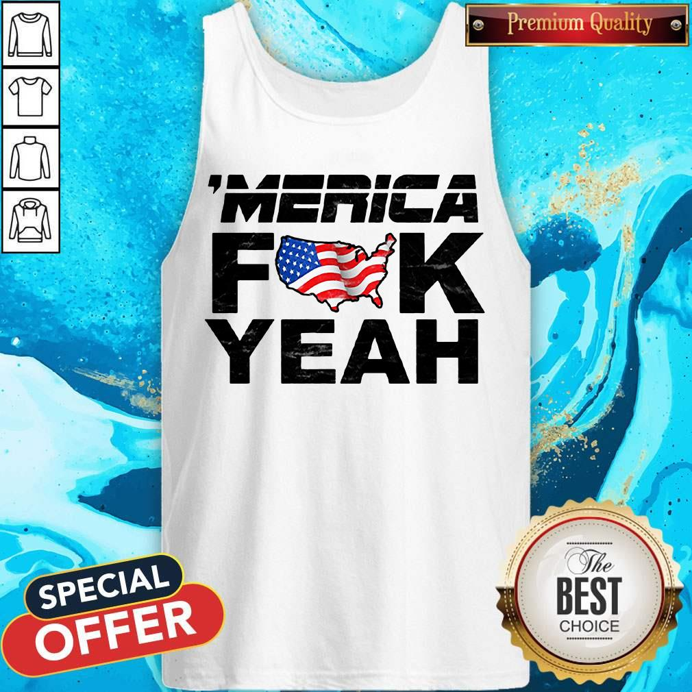 Official Merica Fuck Yeah Funny 4th Of July Short Sleeve Tank Top