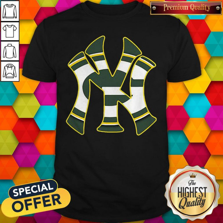 Official New York Yankees And Green Bay Packers Shirt