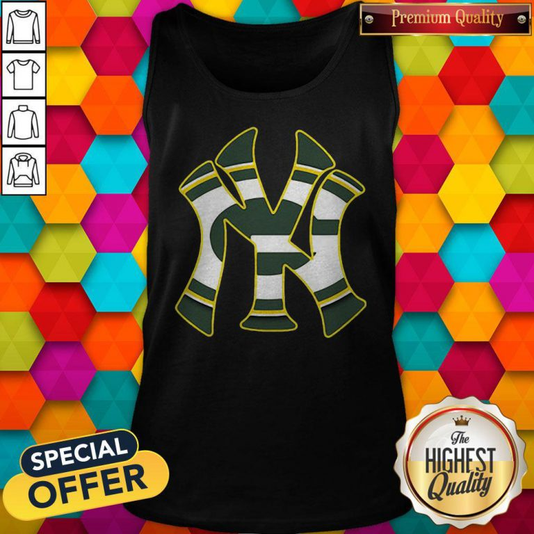 Official New York Yankees And Green Bay Packers Tank Top