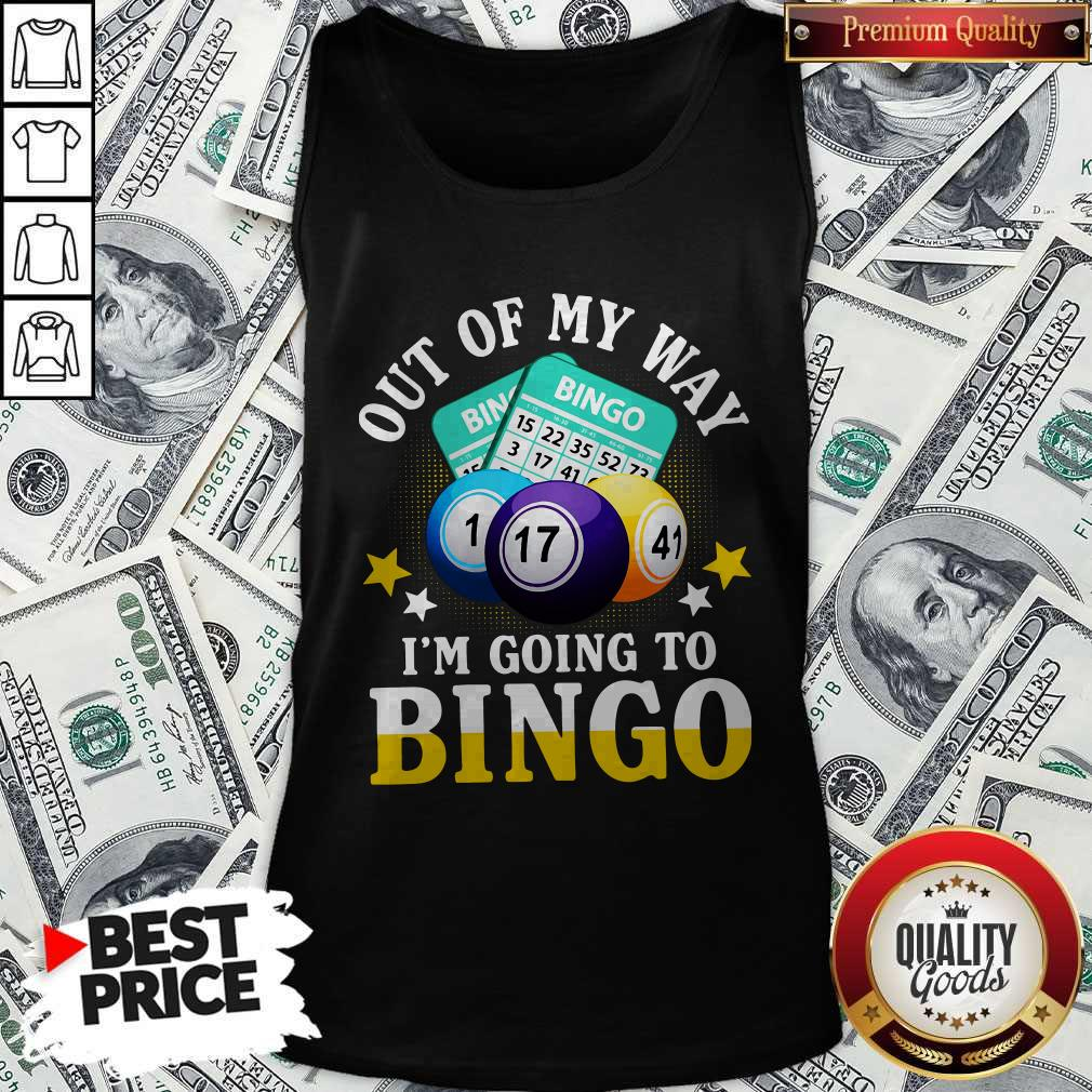 Official Out Of My Way I'm Going To Bingo Tank Top