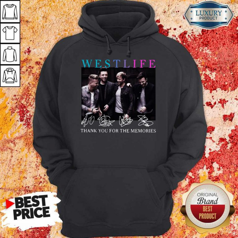 Official Westlife Thank You For The Memories Signatures Hoodie