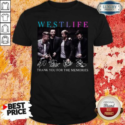 Official Westlife Thank You For The Memories Signatures Shirt