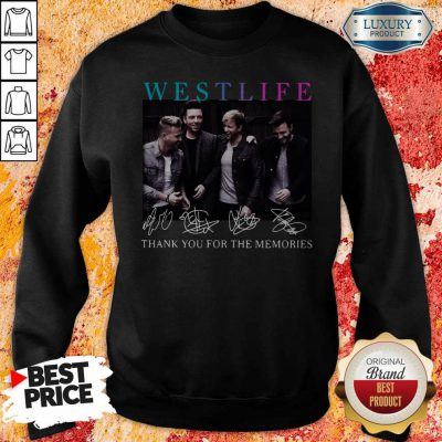 Official Westlife Thank You For The Memories Signatures Sweatshirt