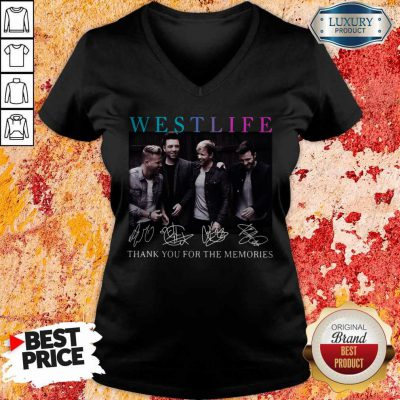 Official Westlife Thank You For The Memories Signatures V-neck
