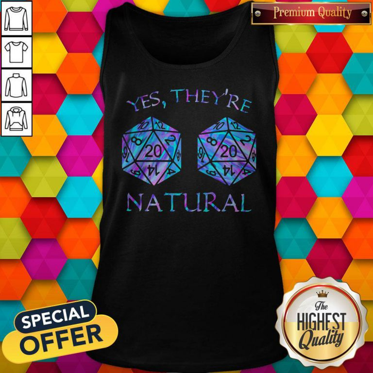 Official Yes They're Natural Tank Top