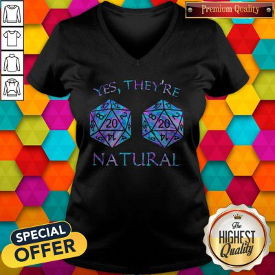Official Yes They're Natural V-neck