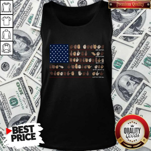 One Nation Under God Indivisible With Liberty And Justice For All Tank Top