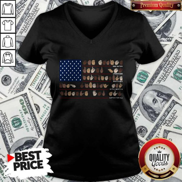 One Nation Under God Indivisible With Liberty And Justice For All V-neck