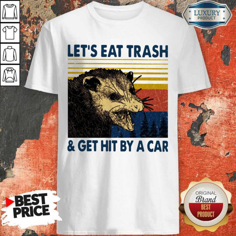 Opossum Let's Eat Trash And Get Hit By A Car Vintage Shirt