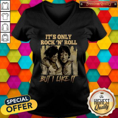 Premium It's Only Rock N Roll But I Like It V-neck