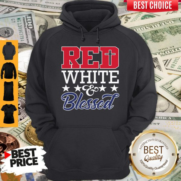 Premium Red White And Blessed Hoodie