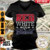 Premium Red White And Blessed V-neck