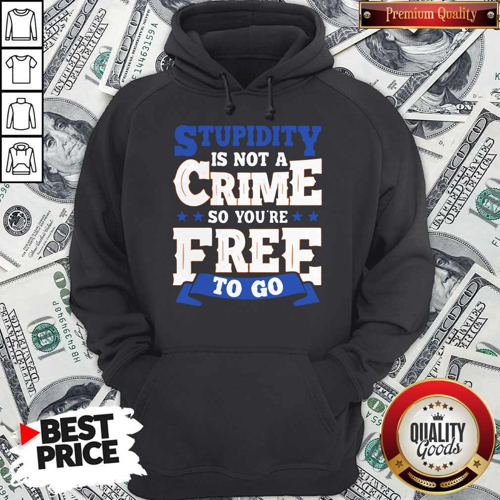 Premium Stupidity Is Not A Crime So You're Free To Go Hoodie