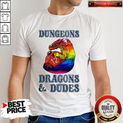 Pretty LGBT Dungeons Dragons And Dudes Shirt