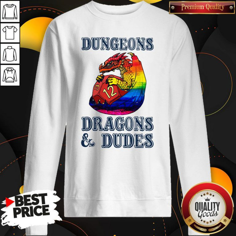 Pretty LGBT Dungeons Dragons And Dudes Sweatshirt