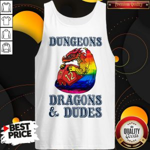 Pretty LGBT Dungeons Dragons And Dudes Tank Top