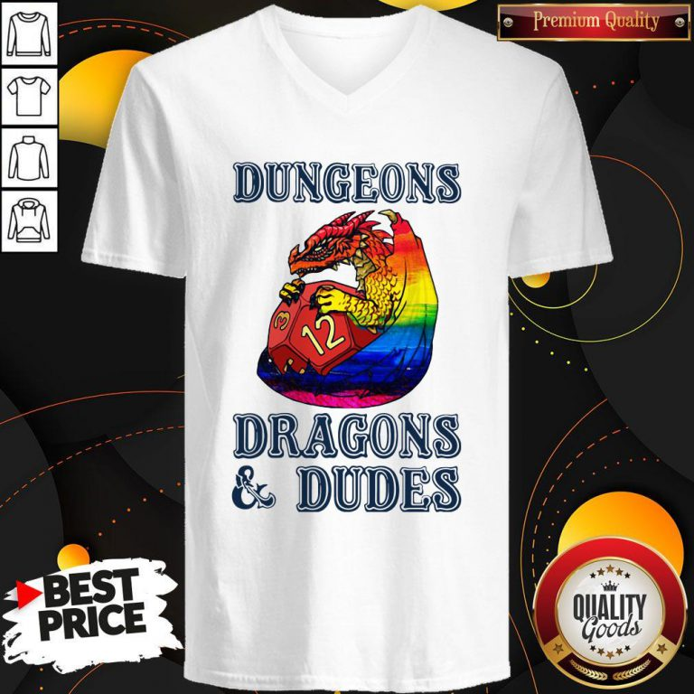 Pretty LGBT Dungeons Dragons And Dudes V-neck