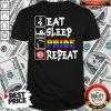 Pretty LGBT Eat Sleep Pride Repeat Shirt