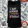 Pretty LGBT Eat Sleep Pride Repeat Tank Top