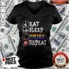 Pretty LGBT Eat Sleep Pride Repeat V-neck