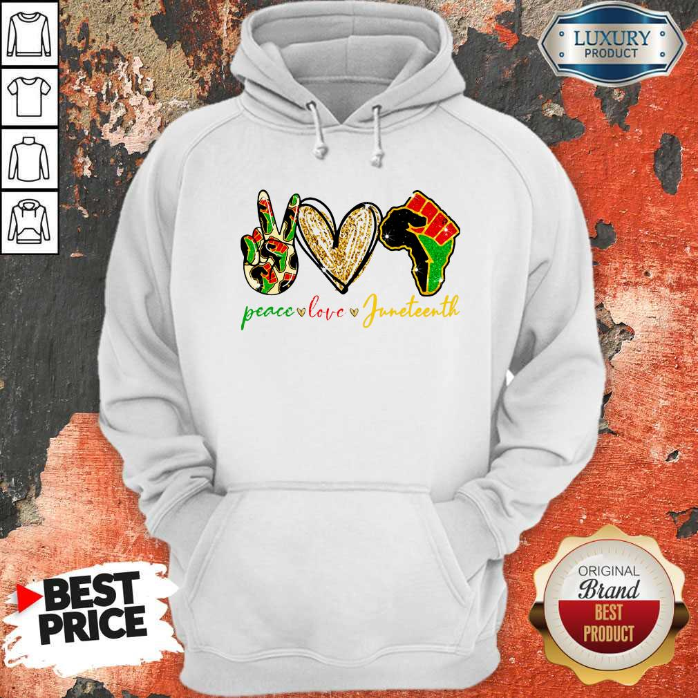 Pretty Peace Love Juneteenth Hoodie