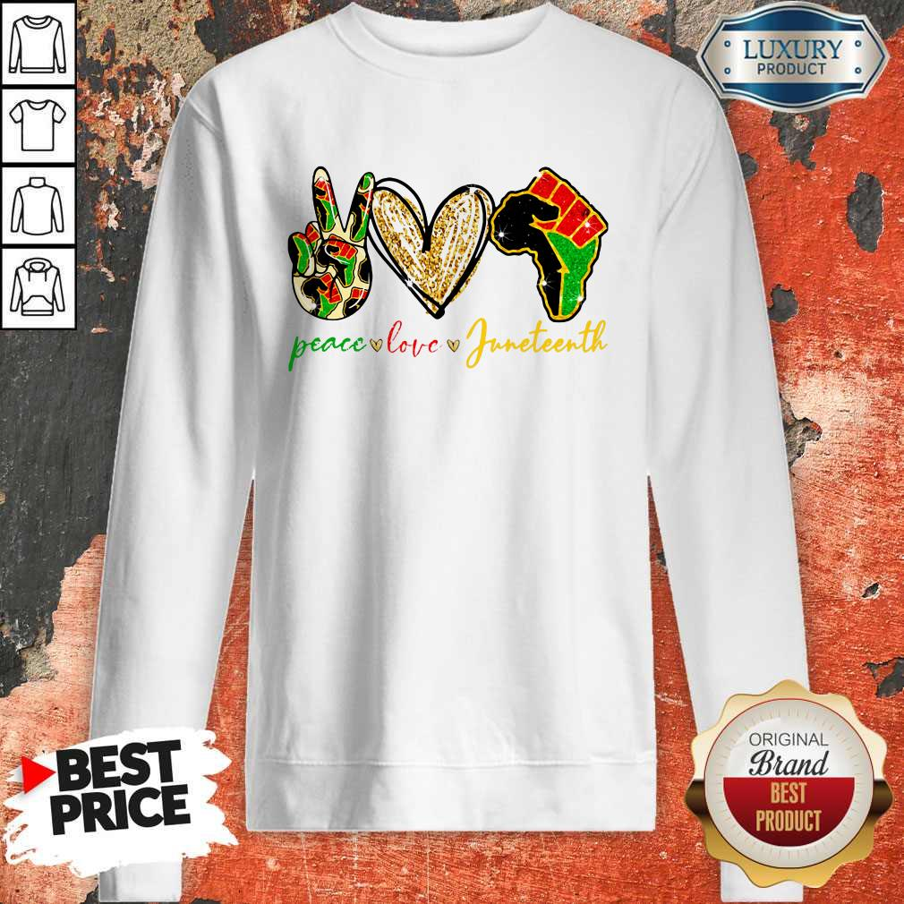 Pretty Peace Love Juneteenth Sweatshirt