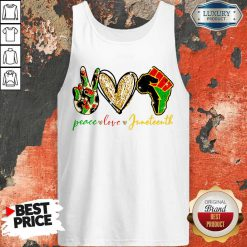 Pretty Peace Love Juneteenth Tank Top