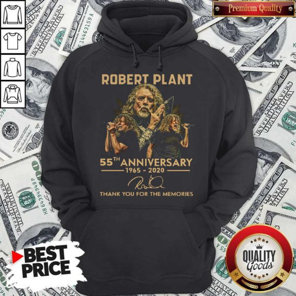 Robert Plant 55th Anniversary 1965 2020 Thank You For The Memories Signature Hoodie