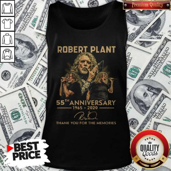 Robert Plant 55th Anniversary 1965 2020 Thank You For The Memories Signature Tank Top