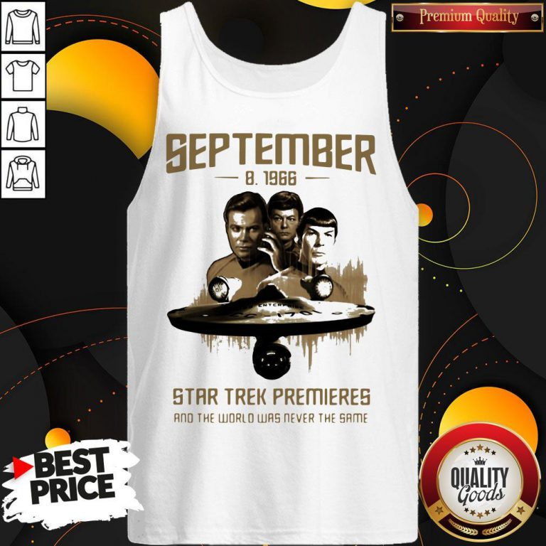 September 8 1966 Star Trek Premieres And The World Was Never The Same Tank Top
