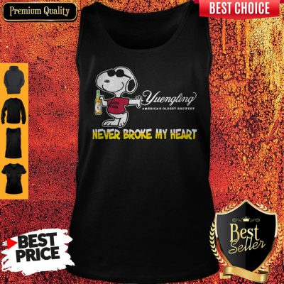Snoopy Yuengling America's Oldest Brewery Beer Never Broke My Heart Tank Top