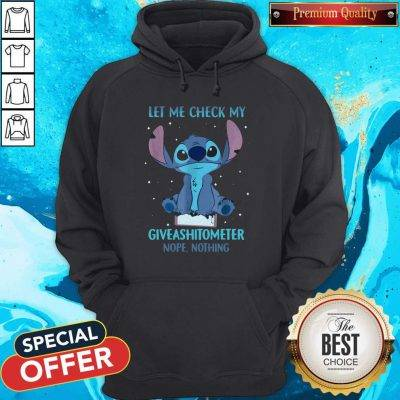 Stitch Let Me Check My Giveashitometter Nope Nothing Hoodie