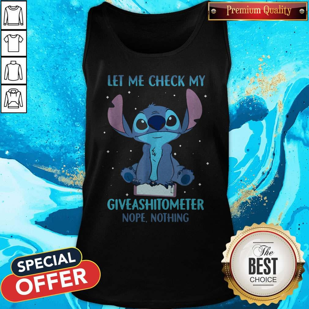 Stitch Let Me Check My Giveashitometter Nope Nothing Tank Top