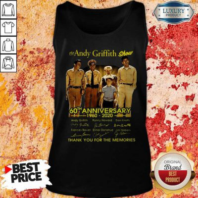 The Andy Griffith Show 60th Anniversary 1960 2020 Thank You For The Memories Signatures Tank Top