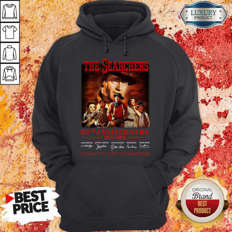 The Searchers 65th Anniversary 1955 2020 Thank You For The Memories Signatures Hoodie