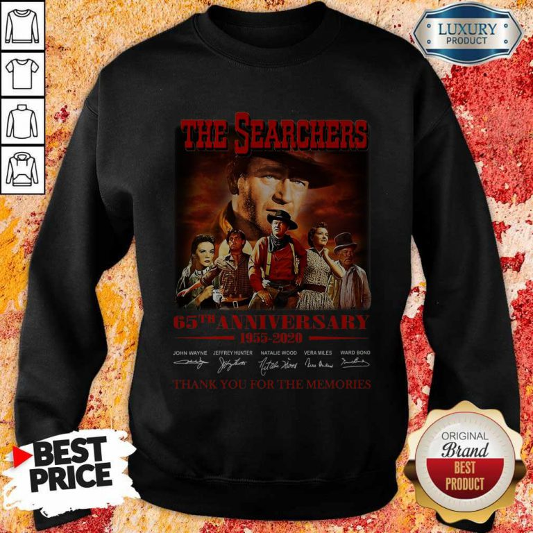 The Searchers 65th Anniversary 1955 2020 Thank You For The Memories Signatures Sweatshirt