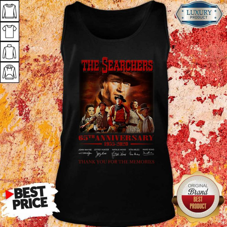 The Searchers 65th Anniversary 1955 2020 Thank You For The Memories Signatures Tank Top