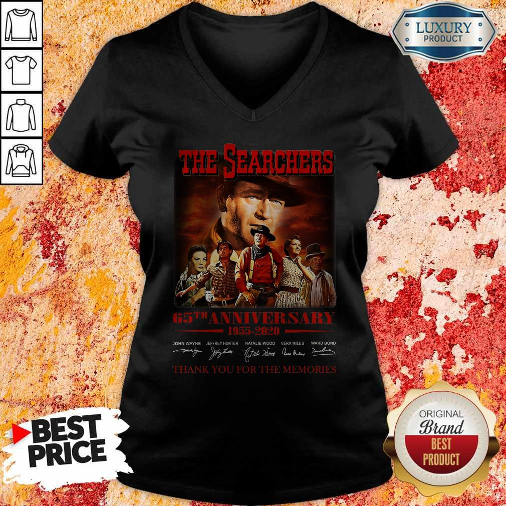 The Searchers 65th Anniversary 1955 2020 Thank You For The Memories Signatures V-neck