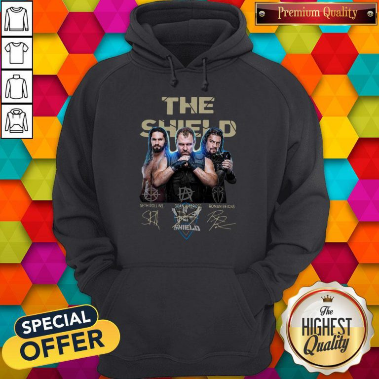 The Shield Seth Rollins Dean Ambrose Roman Reigns Signatures Hoodie