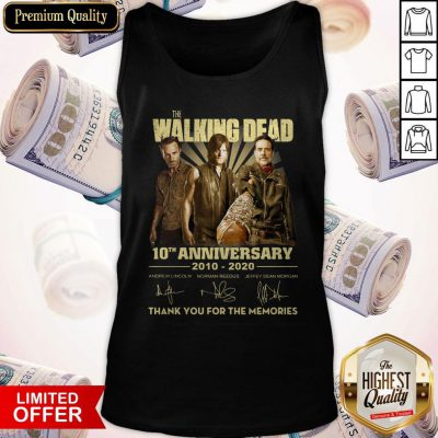 The Walking Dead 10th Anniversary 2010 2020 Signatures Tank Top