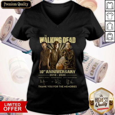 The Walking Dead 10th Anniversary 2010 2020 Signatures V-neck