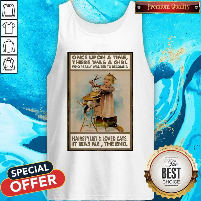 There Was A Girl Who Really Wanted To Become A Hairstylist And Love Cats Tank Top