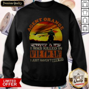 Top Agent Orange I Was Killed In Vietnam I Just Haven't Died Yet Sweatshirt