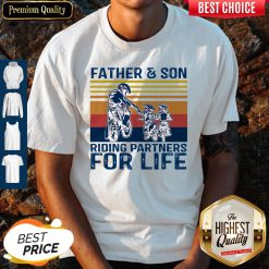 Top Father And Son Riding Partners For Life Vintage Shirt