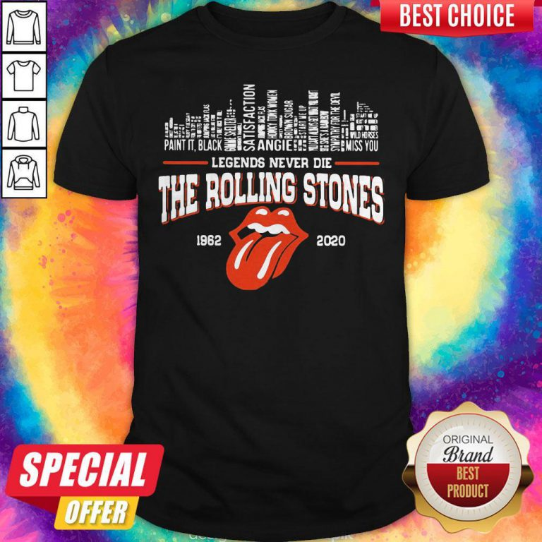 Top Legends Never Die The Rolling Stones 1962 2020 Shirt